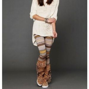 Free People Sweater Fair Isle Leggings